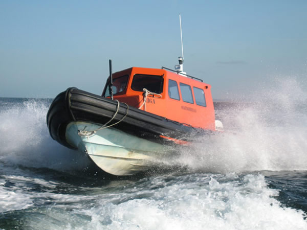 Safety Boat Services high speed rib.