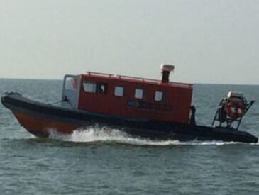 Safety boats can create an exclusion zone