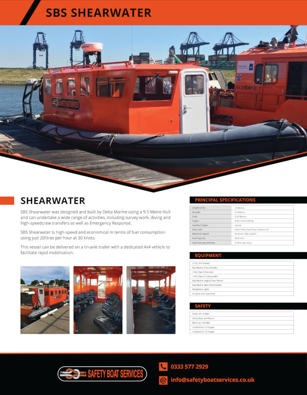 Shearwater | Our Fleet - Safety Boat Services