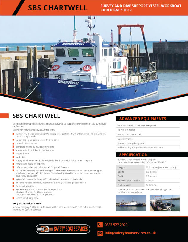Chartwell | Our Fleet - Safety Boat Services