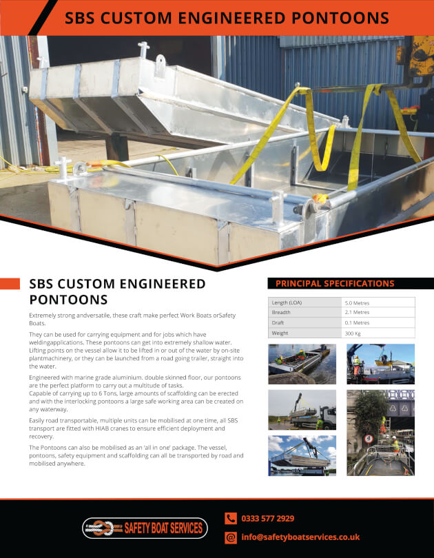 Pontoons | Our Fleet - Safety Boat Services