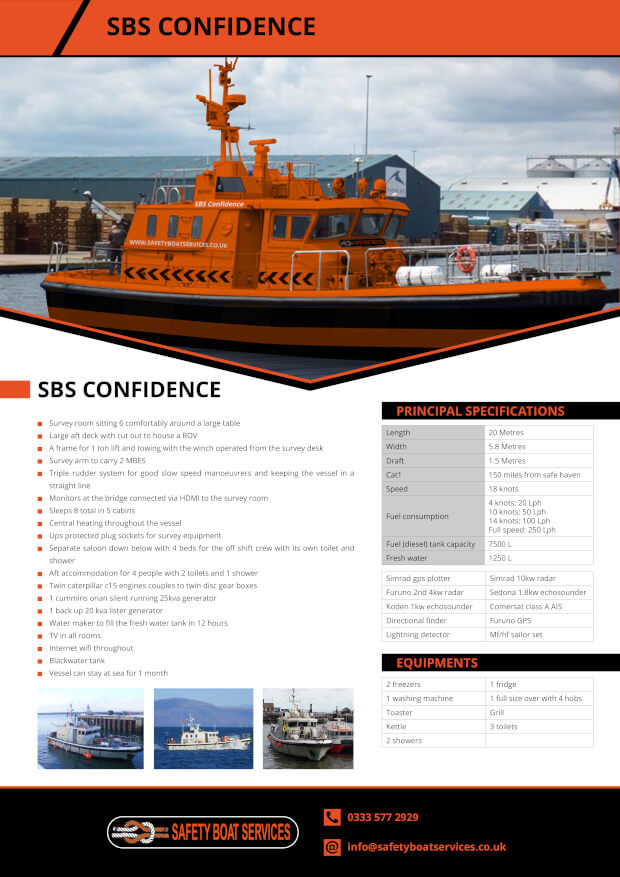 Confidence | Our Fleet - Safety Boat Services